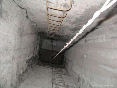 Вентиляционная шахта снизу вверх.