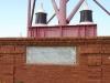 Мемориальная доска, заложенная в основании башни.