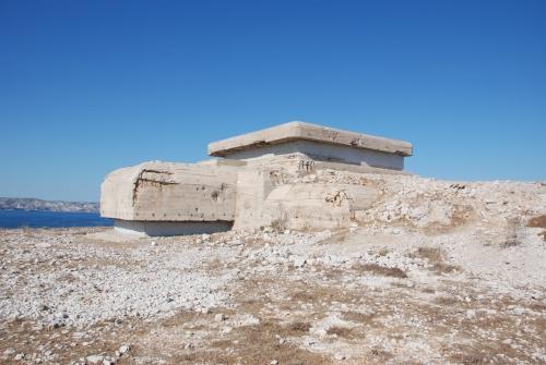 Бункеры береговой батареи на Фриульских островах
