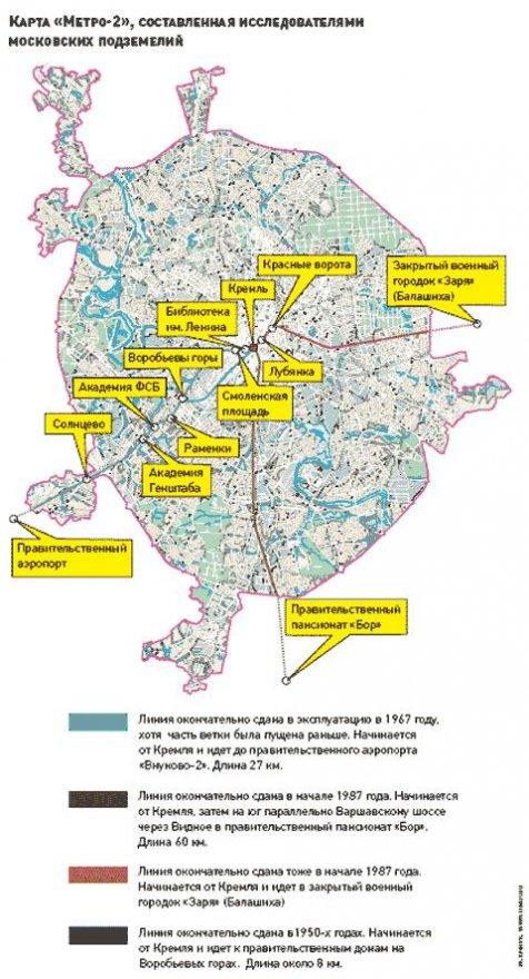 карта метро-2