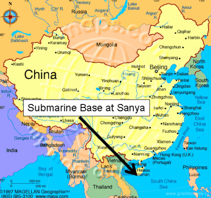 Китайская секретная база атомных подводных лодок