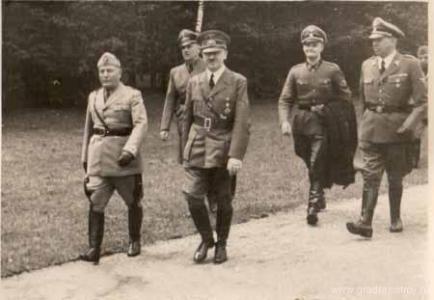 Гитлер и Муссолини в Anlage Sud