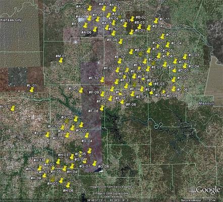 ядерные точки мира - шахты ракет США в штате Канзас