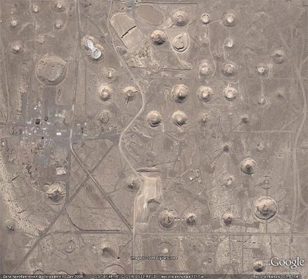 ядерные точки мира- пустыня в штате Невада