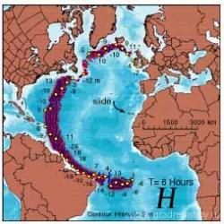 цунами после извержения Кумбре Вьеха