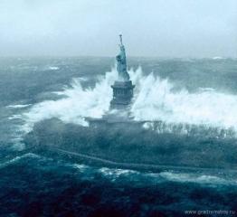 Нью-Йорк и Вашингтон может смыть цунами