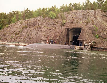 Подземная базе ВМС Швеции Муско