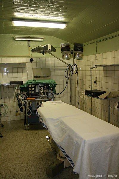Подземный бункер больницы Thomayer в Праге (Чехия)