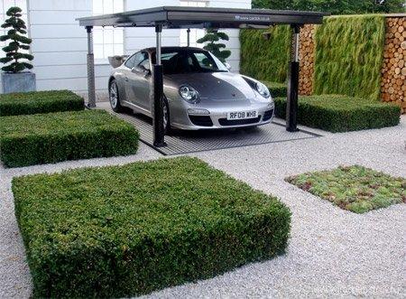 Подземный гараж в саду
