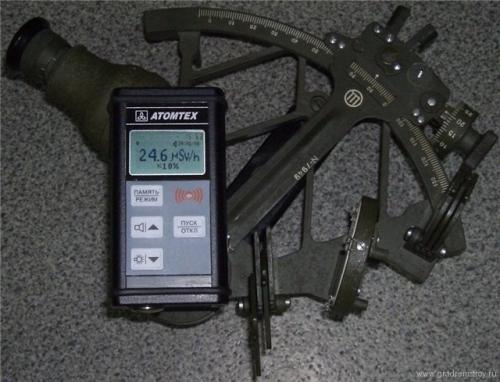 секстан (или секстант) - шкала приборов на основе солей радия-226