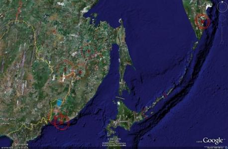 Дальневосточная зона ПВО - активные объекты