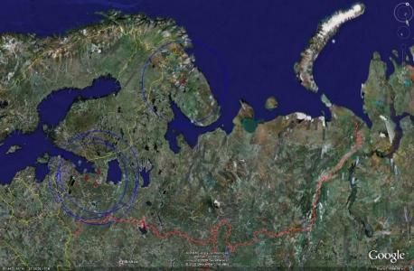 Северо-западная зона ПВО- радар 64N6