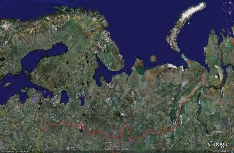 Северо-западная зона ПВО - не активные объекты