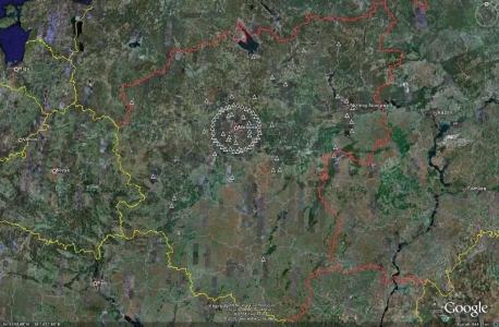 Западная зона ПВО - не активные объекты