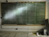 ANDY CRIPE/Gazette-Times This chalkboard in the War Room was used to track the status of radar installations and Air Force bases in the Portland Air Defense Sector.
