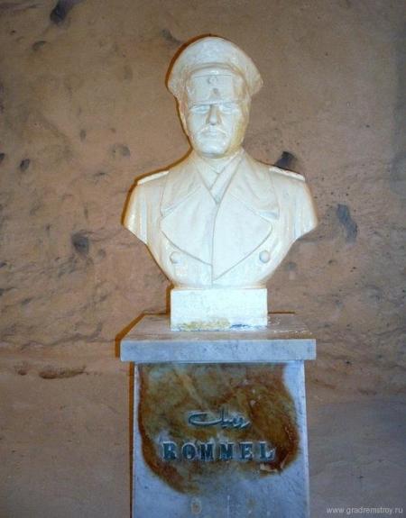 бюст Эрвина Роммеля в бункере