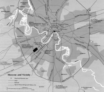 Карта Метро-2, созданная военной разведкой США
