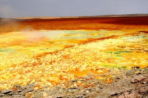 Вулкан Даллол - неземная красота ниже уровня моря