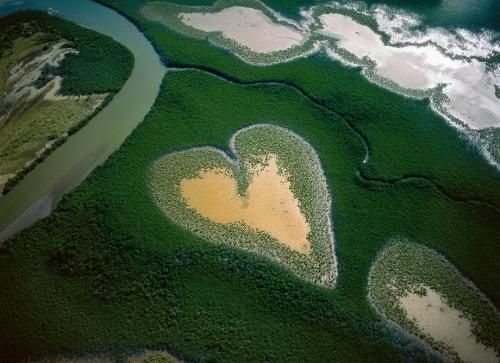 Heart in Voh в Новой Каледонии