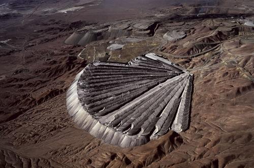 Отвалы медного рудника в Chuquicamata, Чили