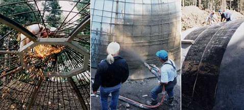 Строительство супердома началось с возведения центрального купола