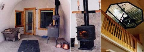 Печи в доме спроектированы для удобного и безопасного круглосуточного (при необходимости) применения.