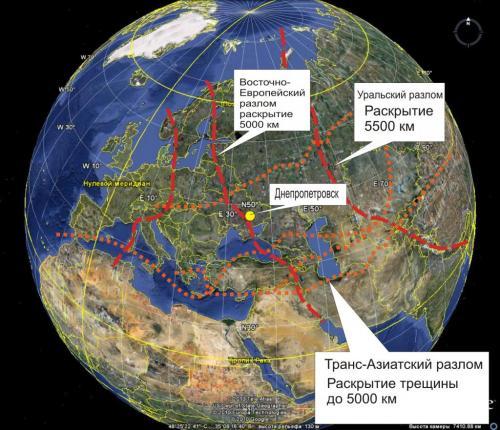 Европейские разломы, Урал
