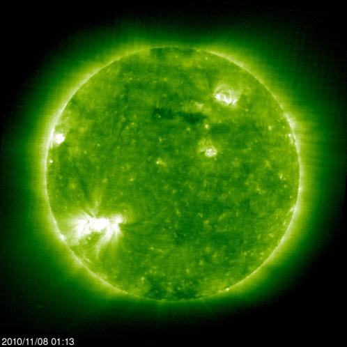 В минувшие выходные ученые зафиксировали одну из самых мощных вспышек на Солнце