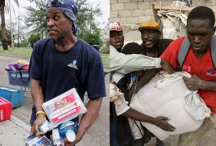 житель Нового Орлеана, укравший товары из супермаркета