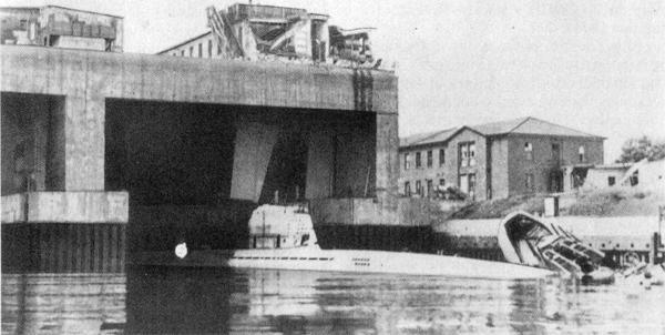 База-бункер немецких подводных лодок « ВАЛЕНТИН»