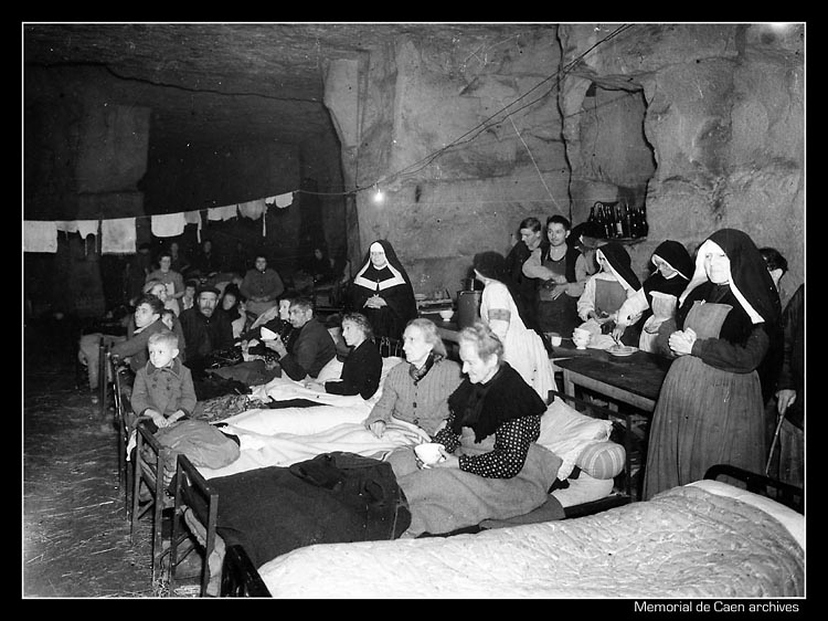 Подземные убежища времен Второй мировой войны открыты для посещения в Кане на севере Франции