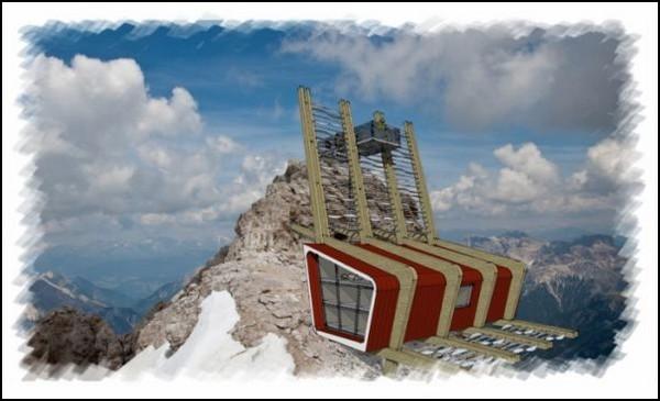 Дом-гнездо Eagle Nest Hut на вершине горы