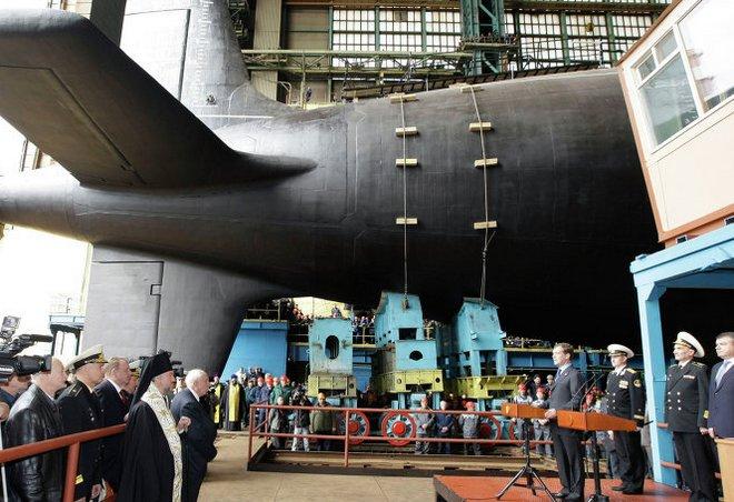 северодвинск испытания подводных лодок