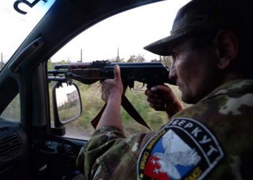 Патрулирование территории Горловки бойцами народного ополчения